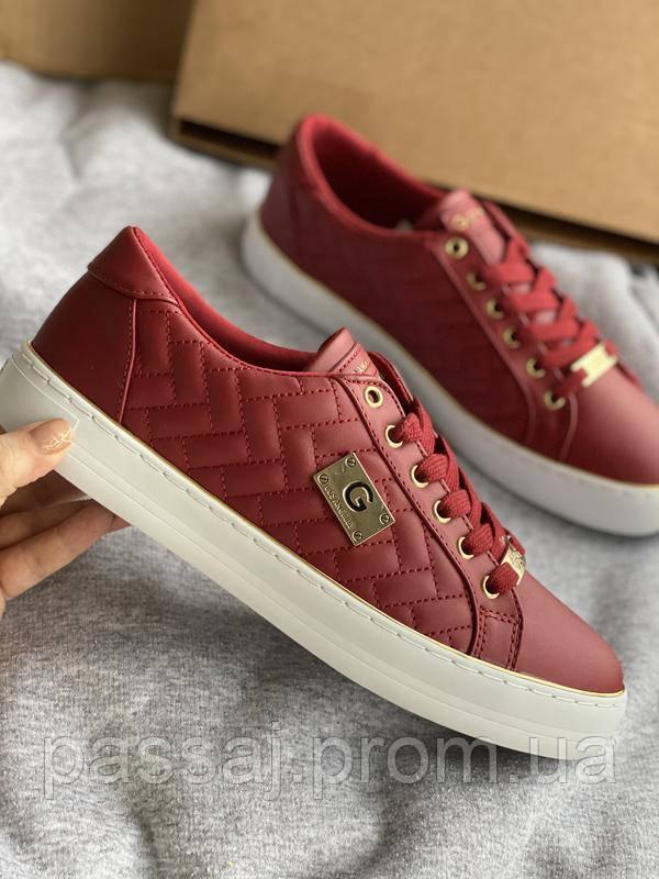 Красные яркие кроссовки, кеды новые Guess