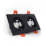 ElectroHouse LED светильник потолочный чёрный двойной 5W угол поворота 45° 4100К, фото 2