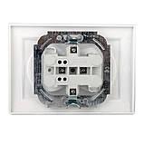 ElectroHouse Розетка двойная без заземления термопластик Enzo EH-2110P, фото 2