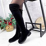 Ботфорты Stans черные замша ЗИМА 2788, фото 6