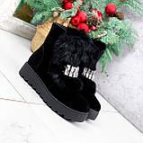 Ботинки женские Diana черные ЗИМА 2792, фото 4