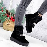 Ботинки женские Diana черные ЗИМА 2792, фото 6