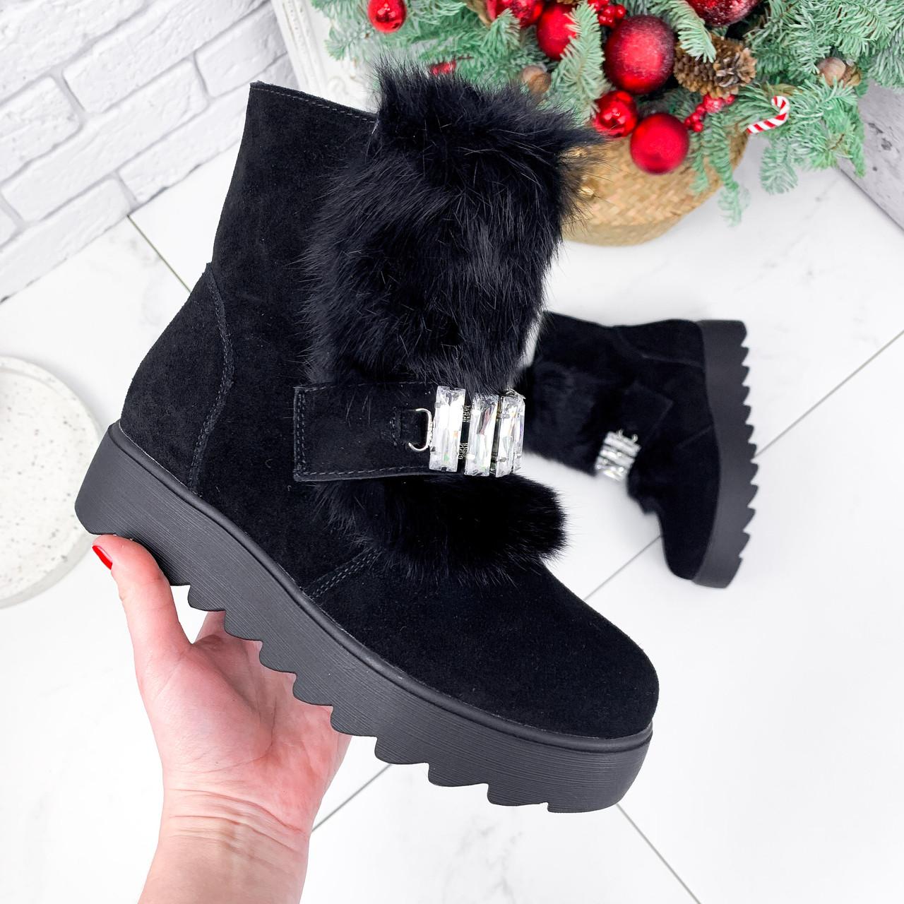Ботинки женские Diana черные ЗИМА 2792