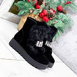Ботинки женские Diana черные ЗИМА 2792, фото 7