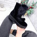Ботинки женские Diana черные ЗИМА 2792, фото 8