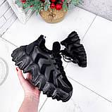 Кроссовки женские Dorian черные ЗИМА 2795, фото 3