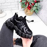 Кроссовки женские Dorian черные ЗИМА 2795, фото 4