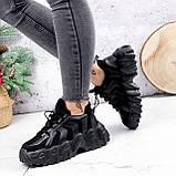 Кроссовки женские Dorian черные ЗИМА 2795, фото 6