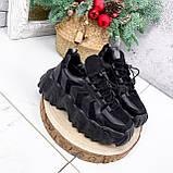 Кроссовки женские Dorian черные ЗИМА 2795, фото 8