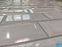 Пластиковая Декоративная Панель ПВХ Пластмаркет ПЛИТКА КАБАНЧИКИ БЕЛАЯ 960*485 мм, фото 5