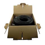 ElectroHouse Кабель UTP 4х2х0,51 CCA черный (наружный монтаж, со стальной проволокой), фото 4