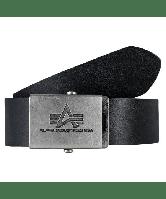 Кожаный ремень Alpha Industries Inc. Leather Belt, 153906 (черный), фото 1