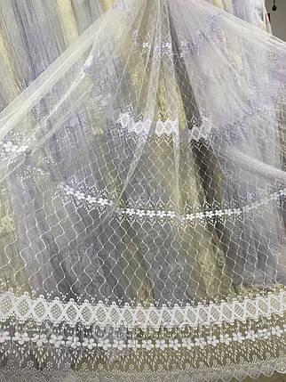 Фатиновый тюль сетка с вышивкой TOR-2, фото 2