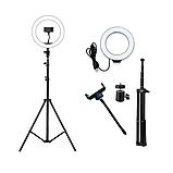 Светодиодная кольцевая Led лампа RING 26см на штативе 2м с держателем, для блогеров, селфи, фотографов, фото 2