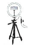 Кільцева світлодіодна LED Лампа26см RING зі Штативом для Селфи 2м Ring Fill Light, фото 5