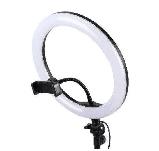 Селфи Лампа кольцо на штативе LED RING с Держателем для Телефона 1м D=26 см Ring Fill Light, фото 3