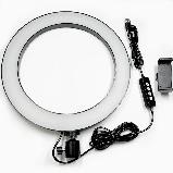 Селфи световое кольцо Selfie Ring Fill Light Кольцевая лампа ZD666 10 Вт D=26 см 5500K - 3200К, фото 7