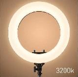 Кільцева лампа Світлодіодна LED Світло на Штативі Soft Ring Light HQ-18 для блогерів D 45 см з Штативом, фото 3