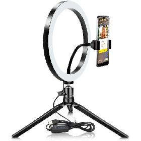 26 см кольцевая LED Светодиодная Селфи Лампа на Треноге Ring Fill Light 10 Вт 5500К - 3200К
