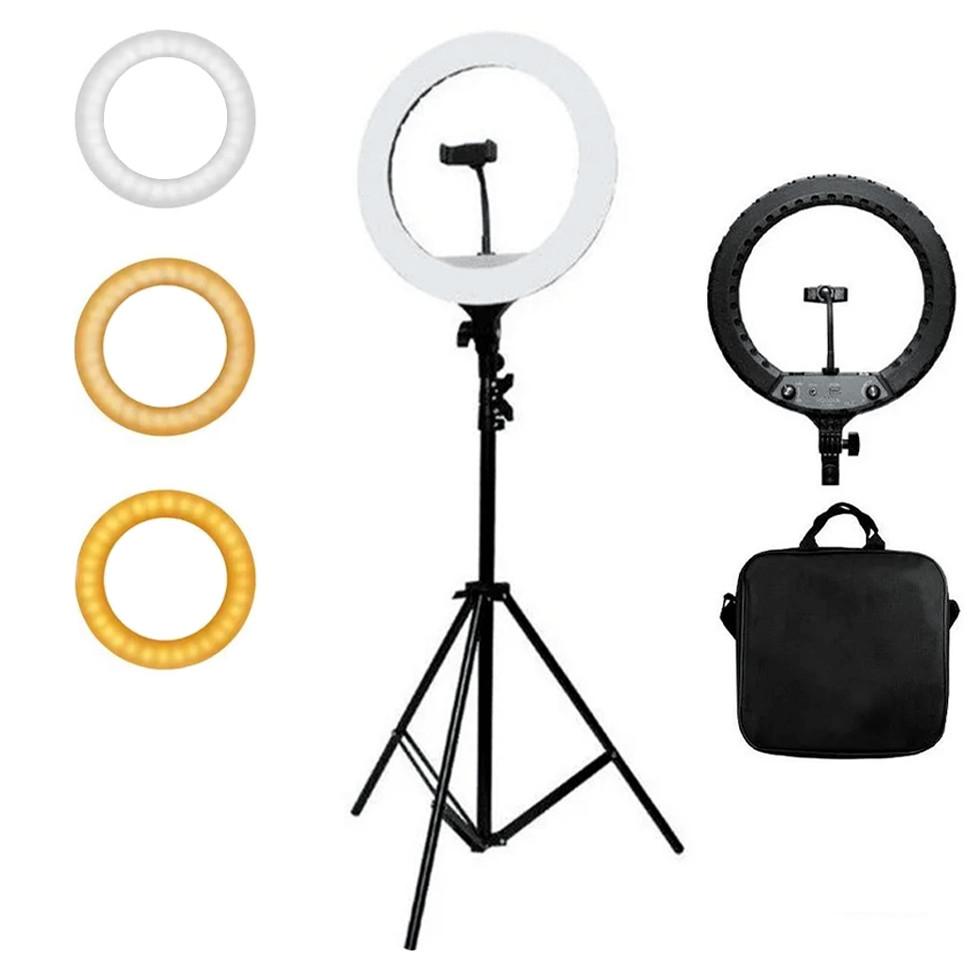 Кільцева лампа Світлодіодна LED Світло на Штативі 200 см Soft Ring Light HQ-18 для блогерів D 45 см з Штативом