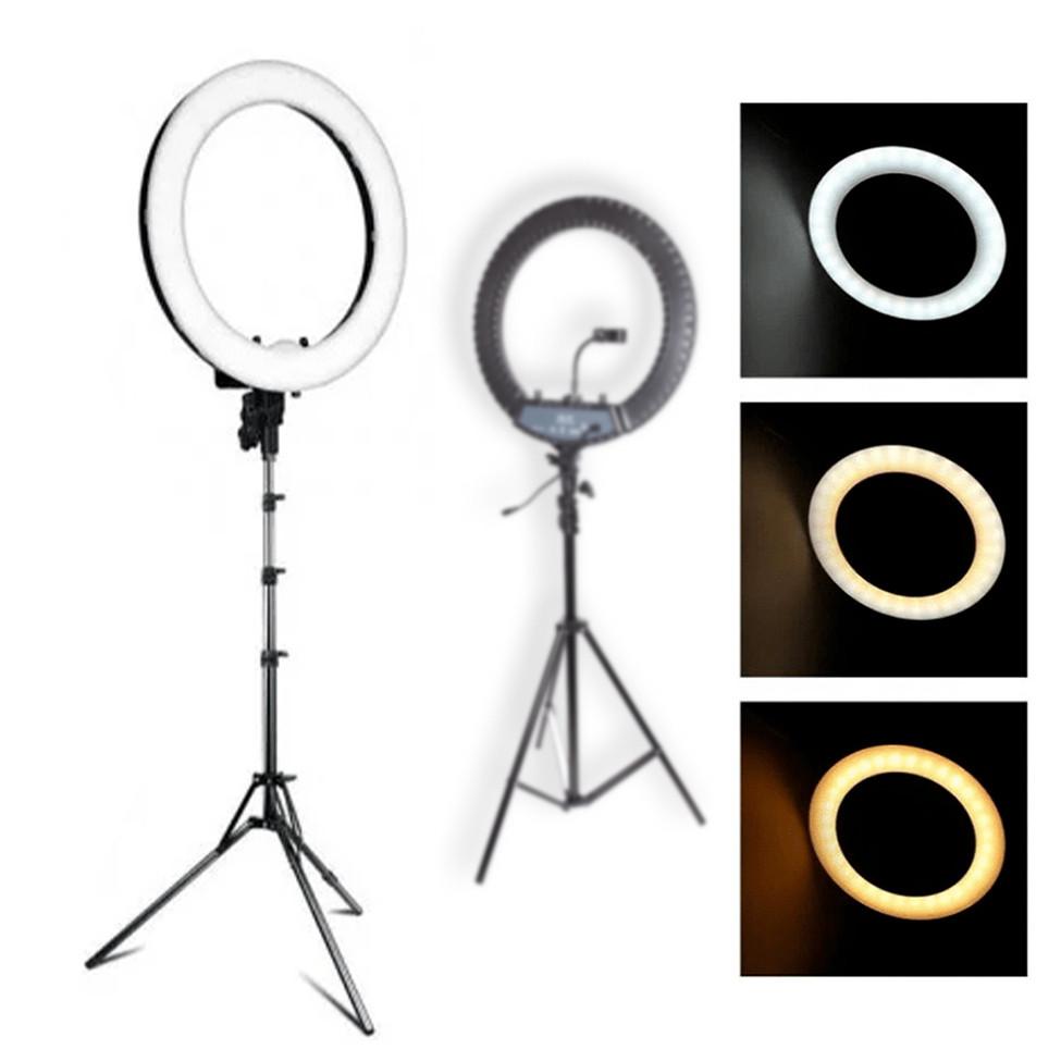 Кільцева лампа Світлодіодна LED Світло на Штативі Soft Ring Light HQ-18 для блогерів D 45 см з Штативом