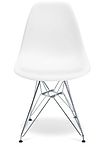 Белый стул Тауэр металлические ножки хром, фото 2