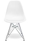Білий стілець Тауер металеві ніжки хром, фото 2