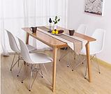 Білий стілець Тауер металеві ніжки хром, фото 5