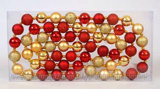 Декоративная гирлянда из шаров по 3см