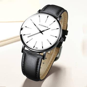Кварцові чоловічі годинники з чорним ремінцем код 634