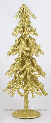Елочка декоративная с золотой присыпкой, 26см