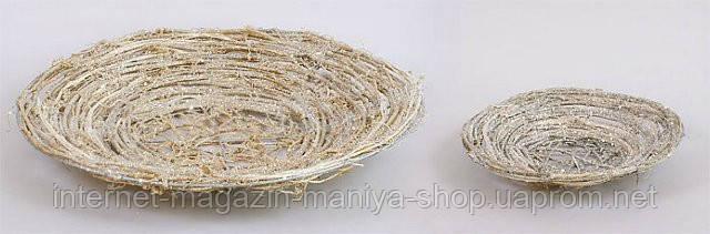 Набор декоративных корзинок из ратана (2), 25см, 45см