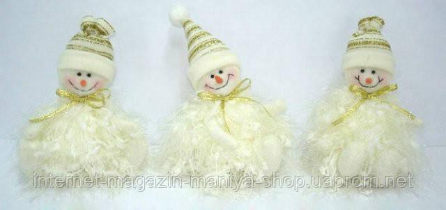 Елочное украшение Снеговик, 13см