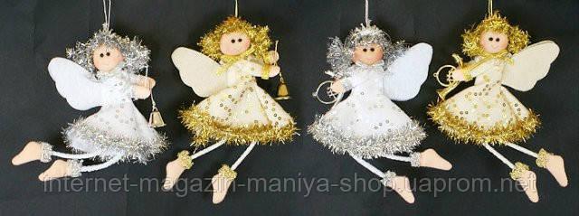 Елочное украшение из ткани  Ангел, 17см