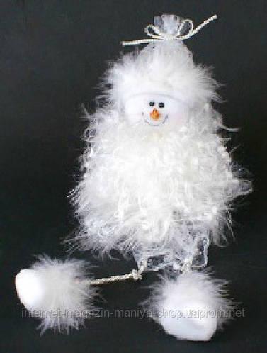 Новогоднее украшение Снеговик, 30см