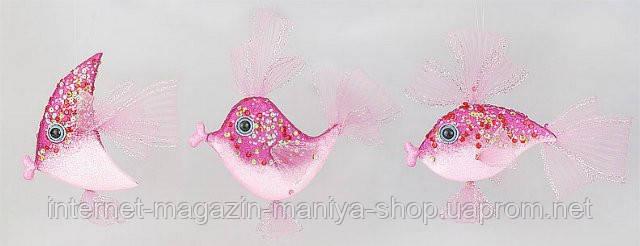 Елочное украшение Рыбка, 25см