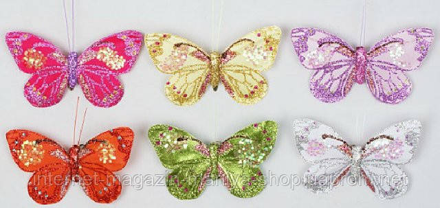 Декоративная бабочка, 11см