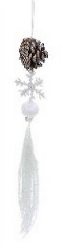 Новогоднее украшение Подвеска с шишкой, 50см