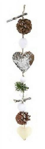 Новогоднее украшение Подвеска Сердце, 40см