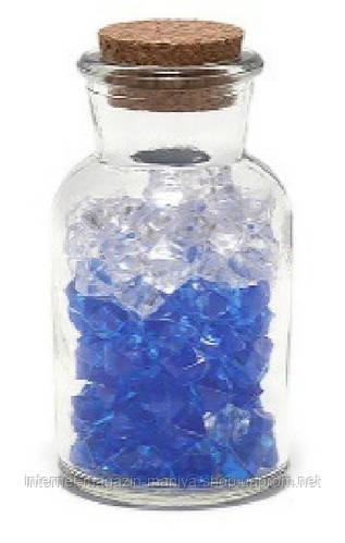 Декоративная бутылочка с пробкой, прозрачное стекло (без декора внутри)