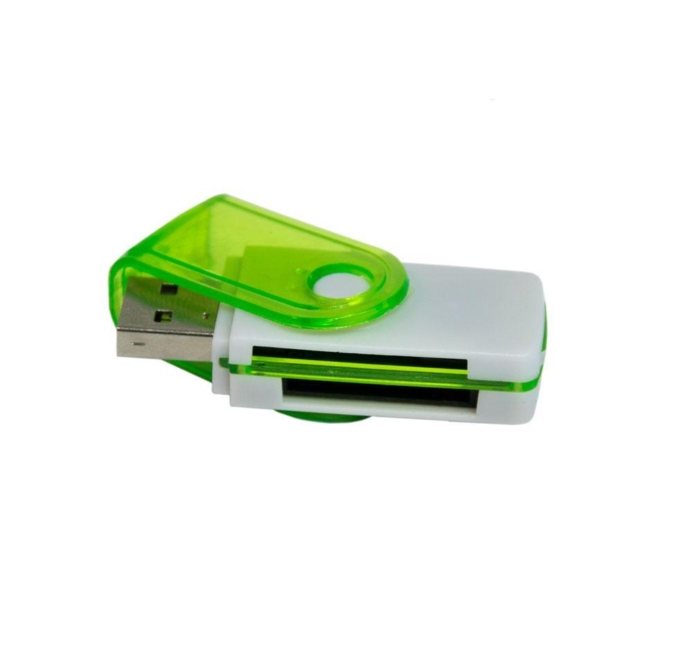 Универсальный внешний кард ридер для Микро СД (салатовый) USB 2.0 картридер для фотоаппарата 1260