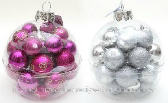 Набор пластиковых шаров (28), 5-6см