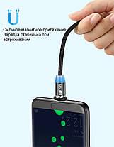 3 метра Магнитный Кабель GTWIN Micro USB Зарядный Шнур с Подсветкой Усиленный Круглый, фото 3