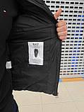 Мужская куртка Emporio Armani H1155 черная, фото 2