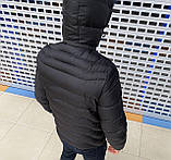 Мужская куртка Emporio Armani H1155 черная, фото 4