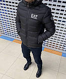 Мужская куртка Emporio Armani H1155 черная, фото 3
