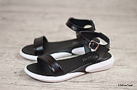 Женские сандали / босоножки, кожа, черные 37(24 см)
