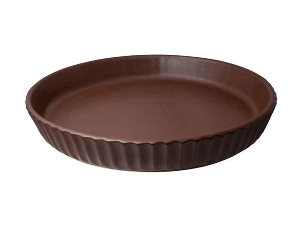 Форма для випічки кругла 26см теракотовий ТМ ПОЛИГЕНЬКО