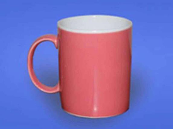 Чашка Офісна 0,350л Рожева 2 біла ТМ АВАНГАРД, фото 2