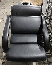Б/У Парикмахерское кресло с мойкой. Кресло для парикмахерской. Черное кресло в парикмахерскую эко кожа, фото 3